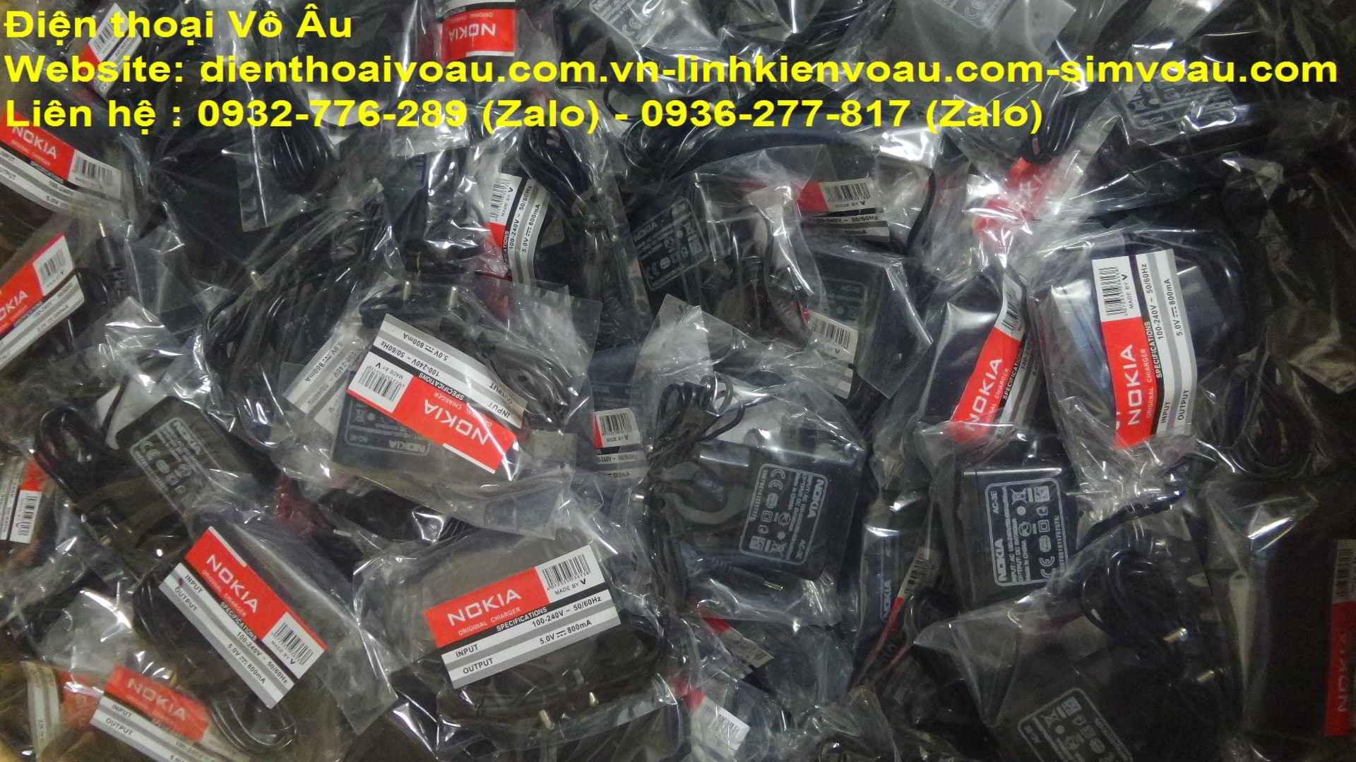 Điện thoại Vô Âu-Chuyên cung cấp sạc nokia chuôi nhỏ,lớn,samsung 8600,j7,sạc motorola V3,sạc sony cổ